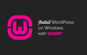 Install wamp server on your local machine